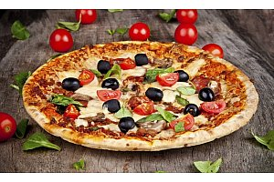 Get a Medium One Topping Free